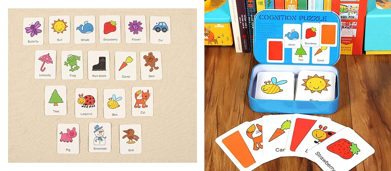 HorBous Tarjetas de Aprendizaje Alfabeto Números Colores ...
