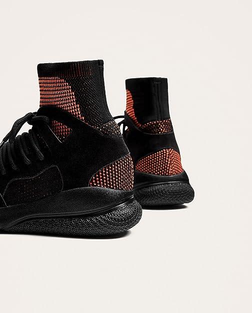 Zara - Zapatillas de Caucho para Hombre Negro Negro, Color Negro, Talla 40 EU: Amazon.es: Zapatos y complementos