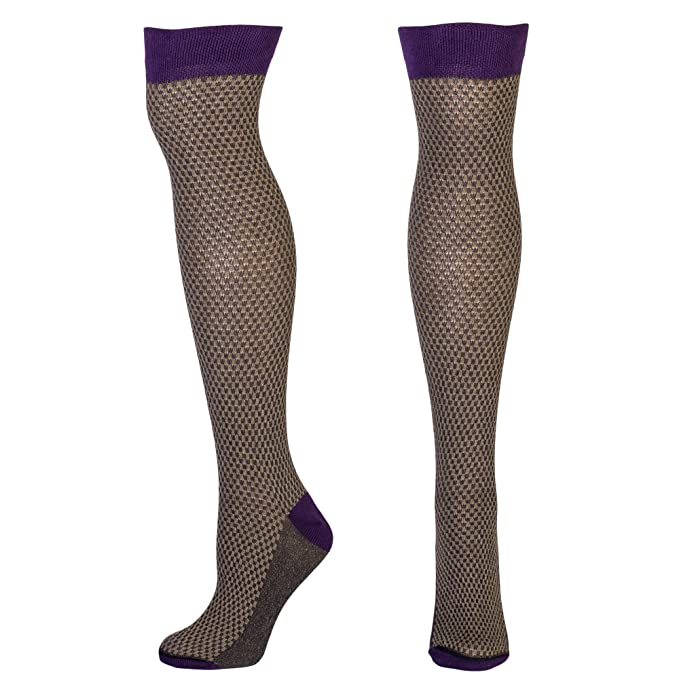 Steampunk Tights  & Socks Ella Waffle Pattern Socks $13.95 AT vintagedancer.com