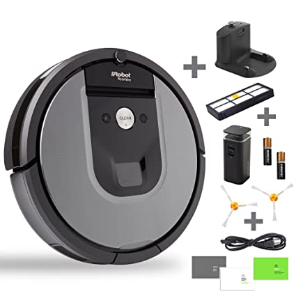 iRobot Roomba 960 Robotic Vacuum Cleaner Bundle - Includes 1 Virtual Wall, Docking Station,