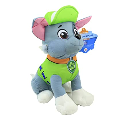 amazon com disney 11 paw patrol character rocky stuffed animal
