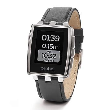 Pebble Montre intelligente en acier pour appareils iPhone et Android - Acier inoxydable brossé