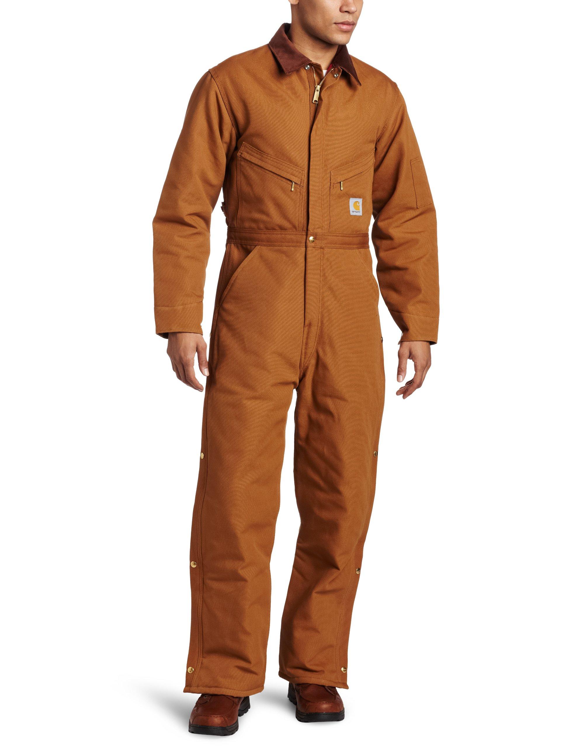 Carhartt Men's Quilt Lined Duck Coveralls,Brown,44