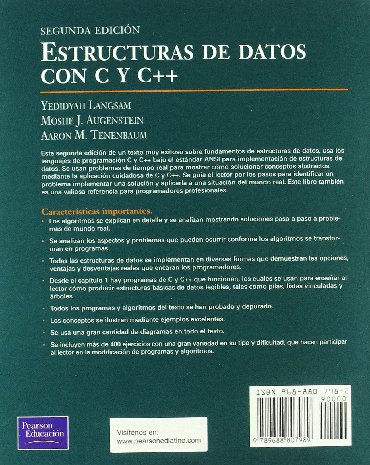 Estructuras De Datos Con C Yc Spanish Edition Moshe