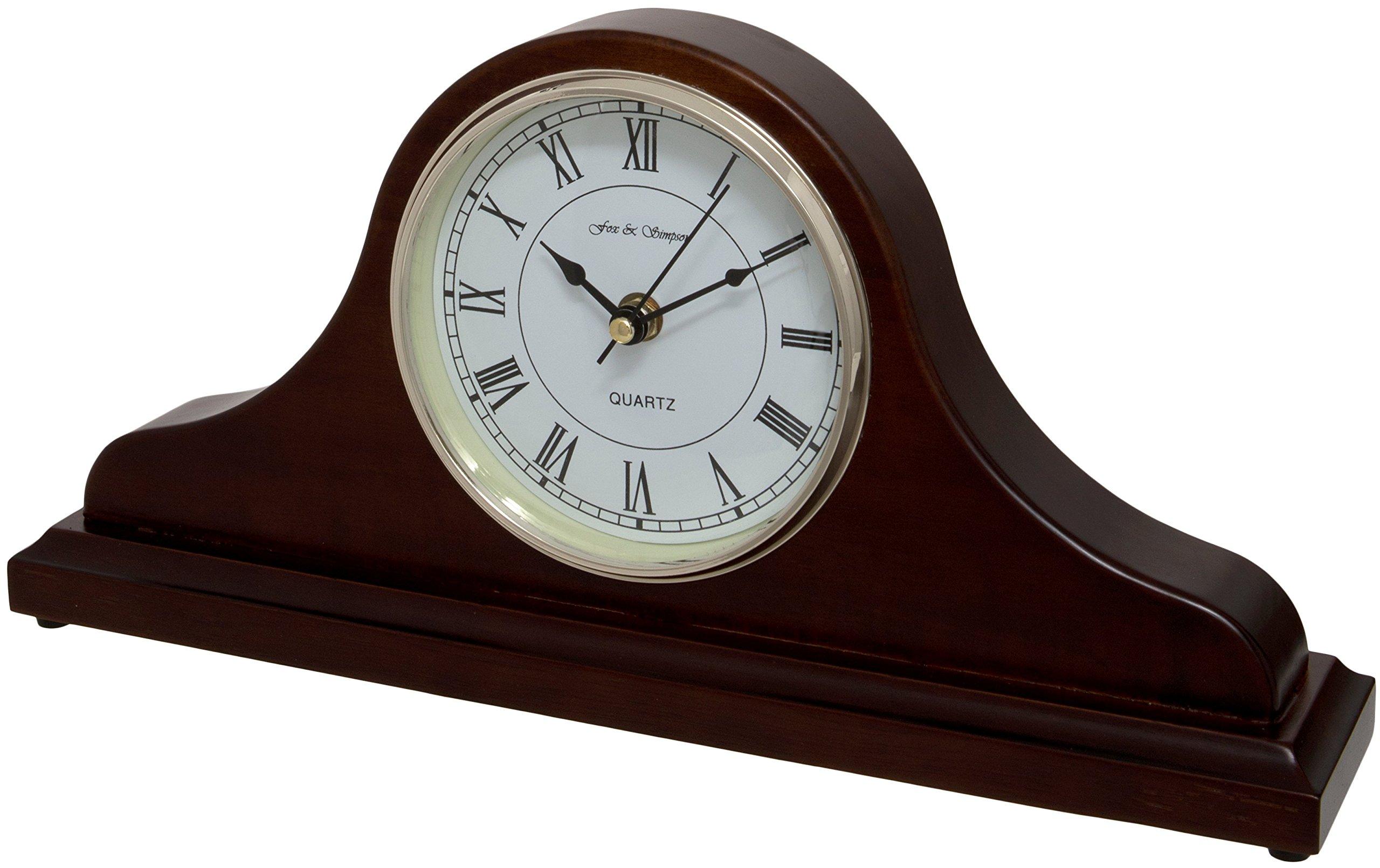 Fox and Simpson FSSW340 Horseway Walnut Napoleon Style Mantel Clock