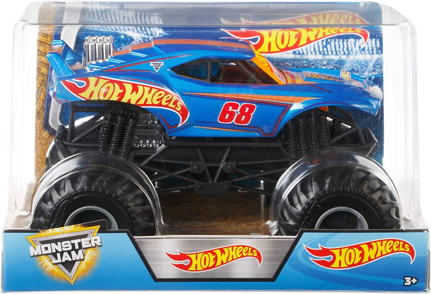 Amazon Com Hot Wheels Monster Jam Truck 1 24 Scale Toy Toys Games