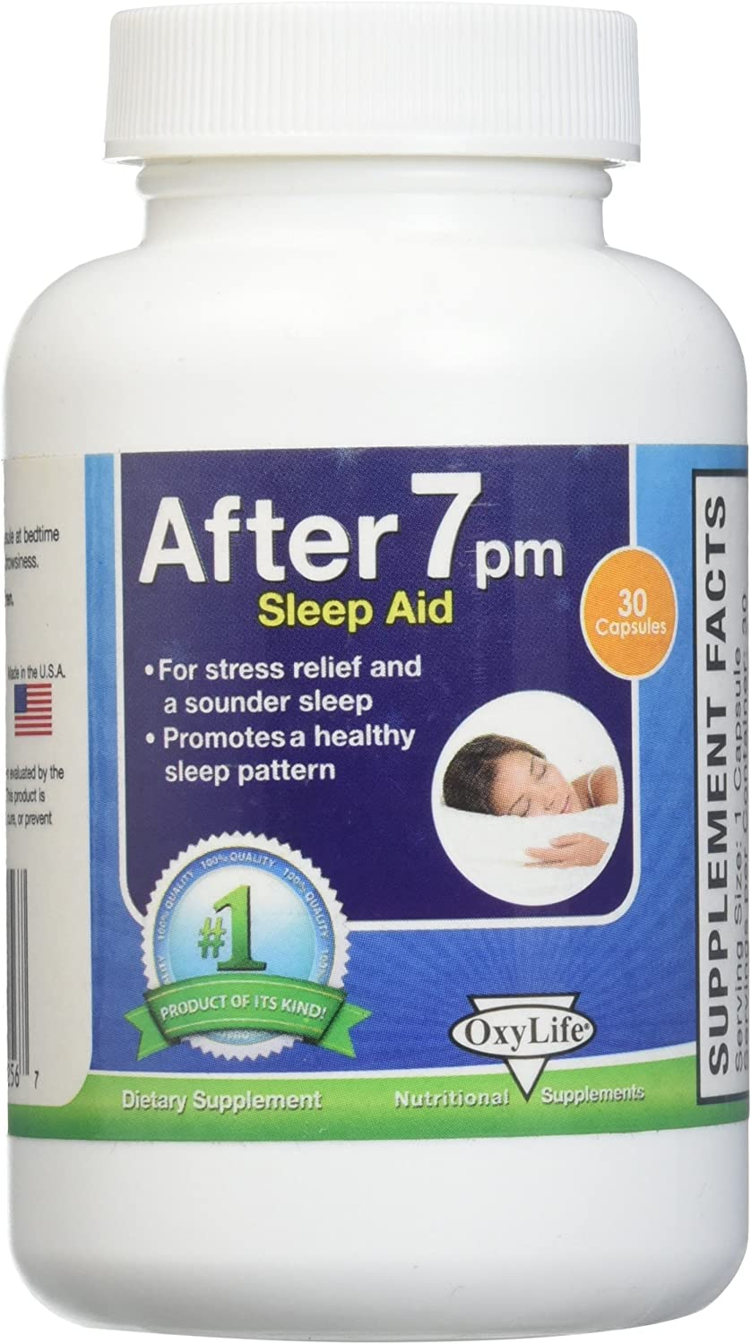 Amazon Com Oxy Life Inc After 7 Pm Sleep Aid 30 Vgc 0 02 Pound