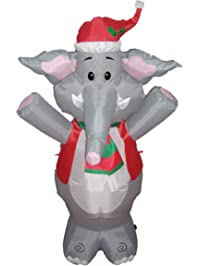 bzb goods lighted christmas blow up cute elephant yard decoration 4u0027
