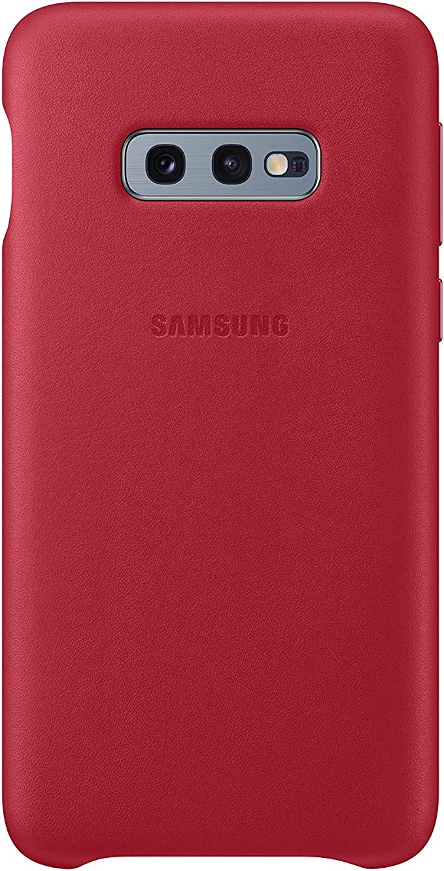 Samsung EF-VG973LR - Coque en cuir - Galaxy S10 - Rouge (bordeaux)