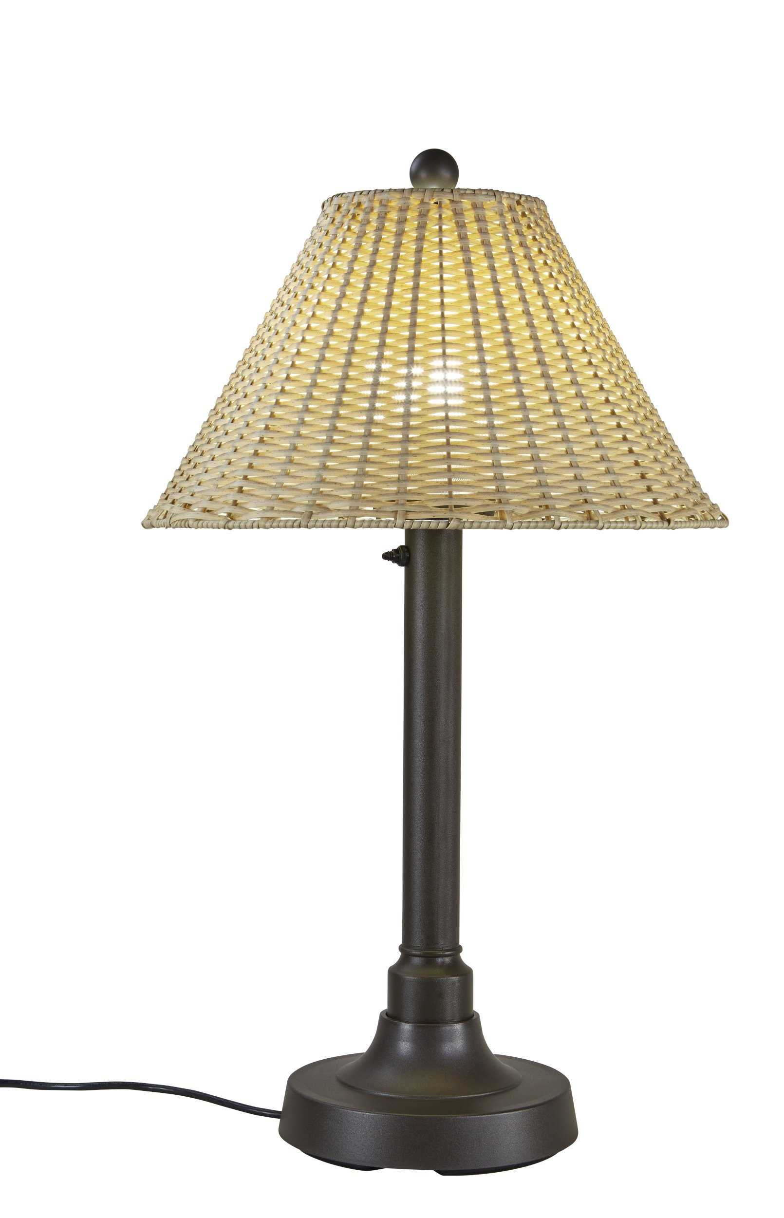 Patio Living Concepts 19217 Tahiti Outdoor Table Lamp with 2'' Tubular Body, 34''