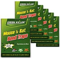 Qmadix Mice Traps Sticky Boards, Strongly Adhesive,Mouse Traps That Work Capturing Indoor and Outdoor Rat Cockroach…