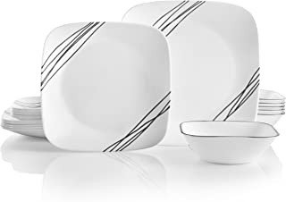 product image for Corelle Service for 6, Chip Resistant, Simple Sketch Dinnerware Set, 18-Piece