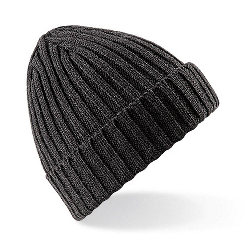 Amazon.com  Beechfield Unisex Chunky Ribbed Winter Beanie Hat (One Size)  (Black)  Clothing 2162564c6246