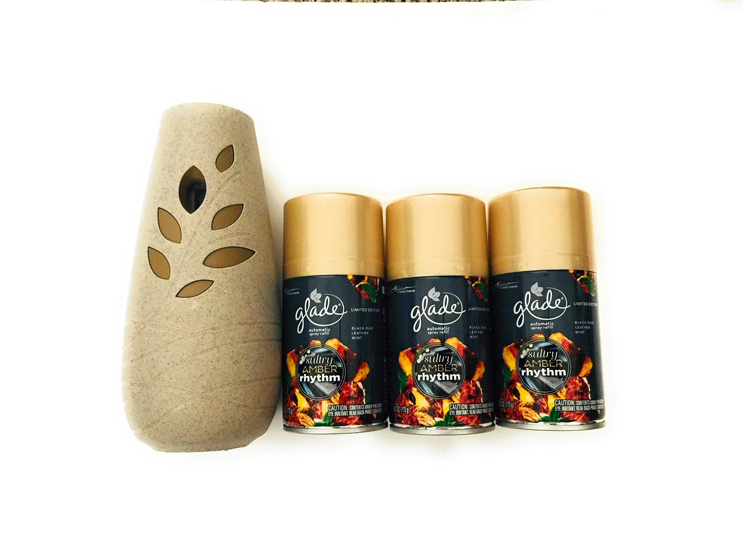 Glade Automatic Spray & 3 Refills Sultry Amber Rhythm Limited Edition by Glade