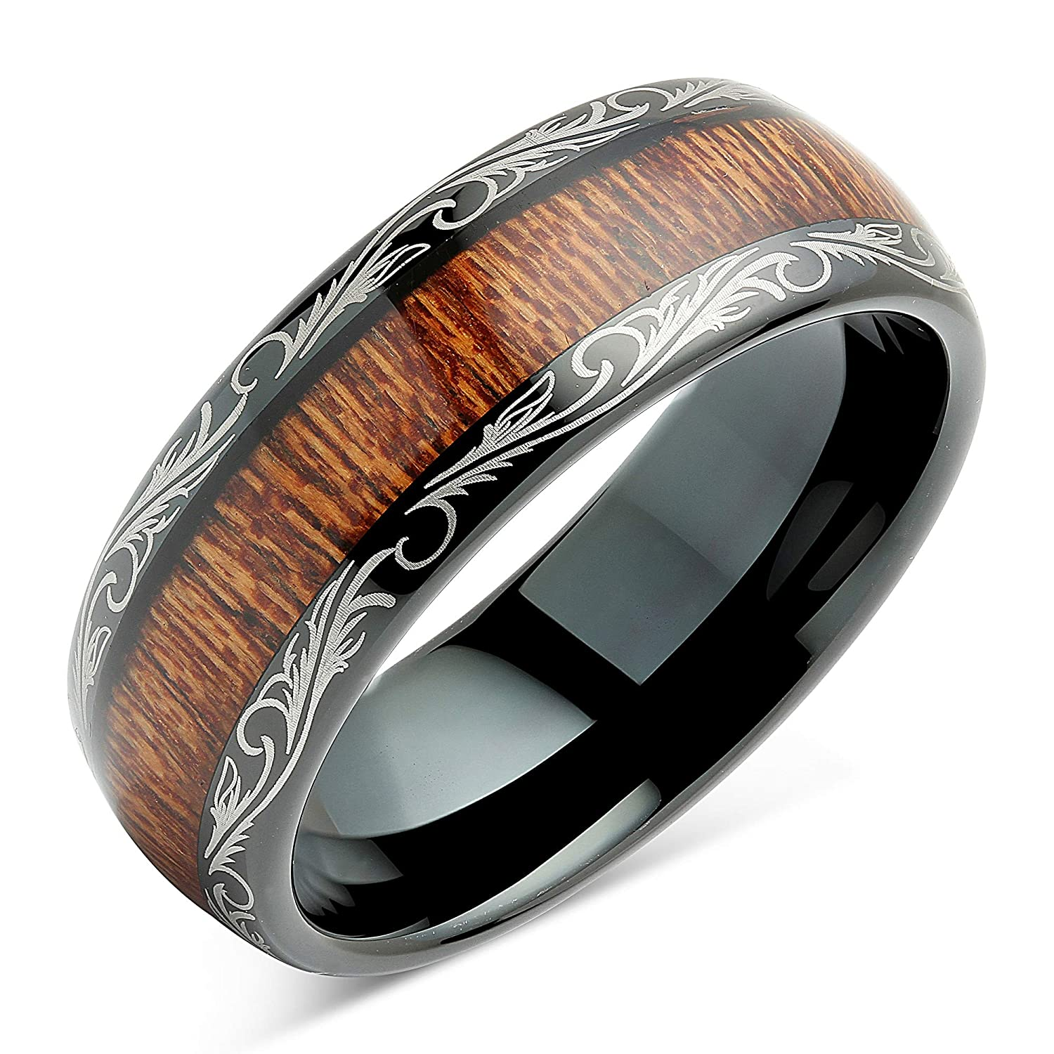 Impartial Titanium Black Rubber Flat 8mm Brushed Wedding Ring Band Size 6.50 Type Of Jewelry & Watches Bridal & Wedding Party Jewelry
