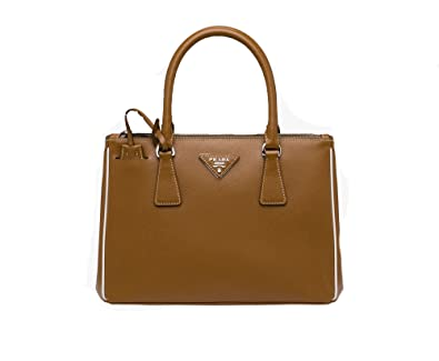 ccb96bc4906b Prada Women s Saffiano Lux Brown Handbag 1BA863  Handbags  Amazon.com
