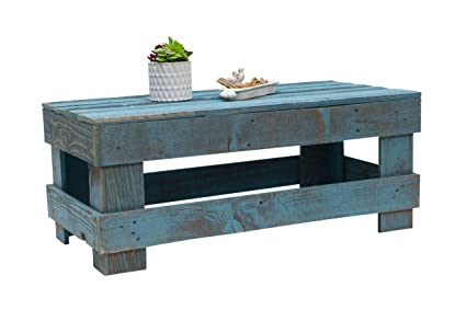 Amazoncom Barnwood Coffee Table Wrustic Reclaimed Wood By Del