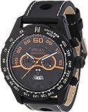Nautec No Limit Herren-Armbanduhr XL Monza Chronograph Quarz Leder MZ QZ/LTIPBK