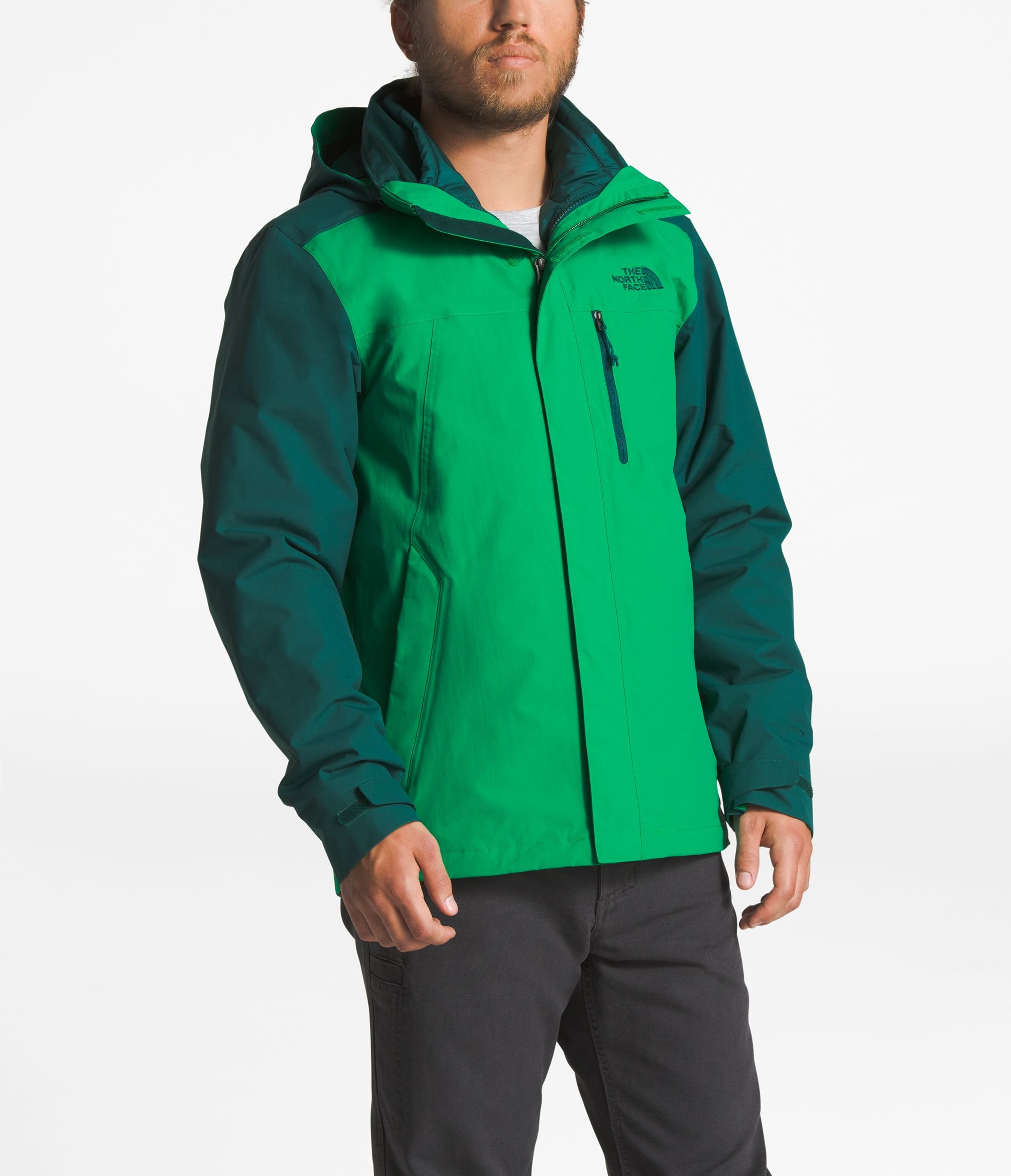 The North Face Men's Carto Triclimate Jacket - Primary Green & Botanical Garden Green - M