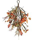 NeoL'artes 16 inch Fall Daisy Door Swag Wreath for Lamp Ears, and Home Decor (Daisy)