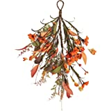 NeoL'artes 16 inch Fall Daisy Door Swag Wreath for Harvest Lamp Ears, and Home Decor for Thanksgiving