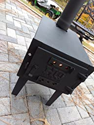 Amazon Com Hq Issue Outdoor Wood Stove Sports Amp Outdoors