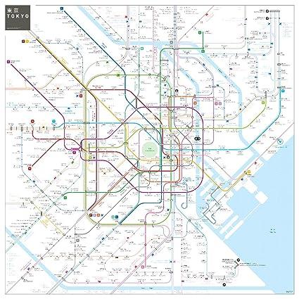 Tokyo Subway Map Framed.Amazon Com Gifts Delight Laminated 24x24 Poster Tokyo Metro Subway