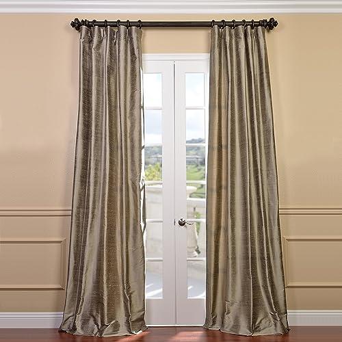 HPD Half Price Drapes DIS-ID7806-84 Textured Dupioni Silk Curtain 1 Panel