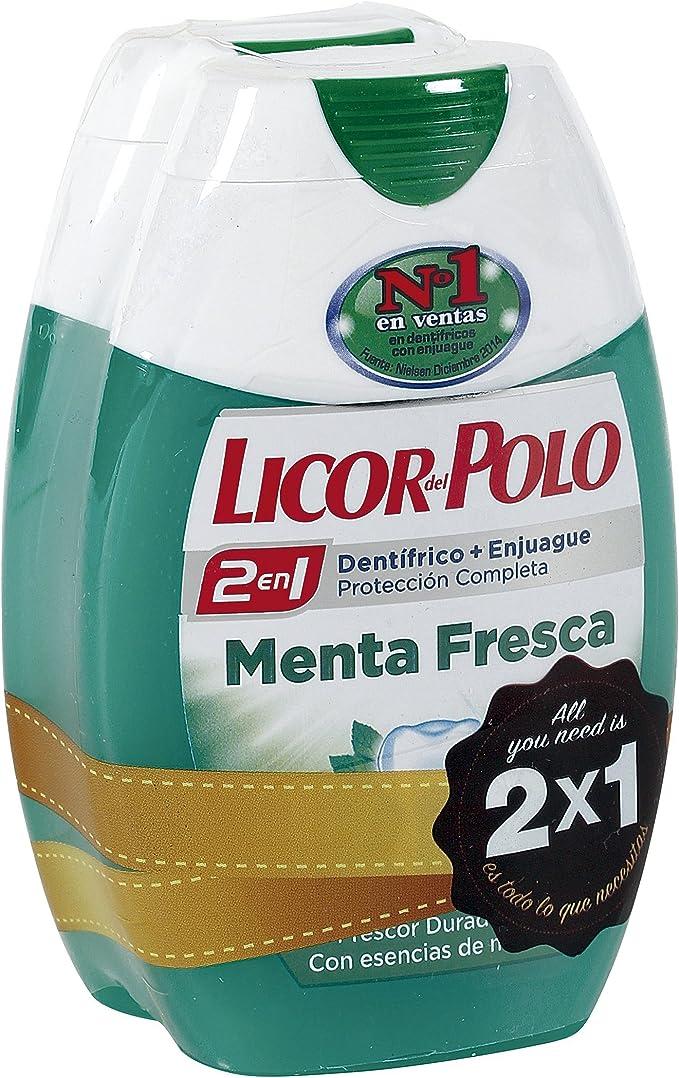 LICOR DEL POLO - Pasta Dentífrica 2 En 1 Menta Fresca Bote 2 X 75 ...