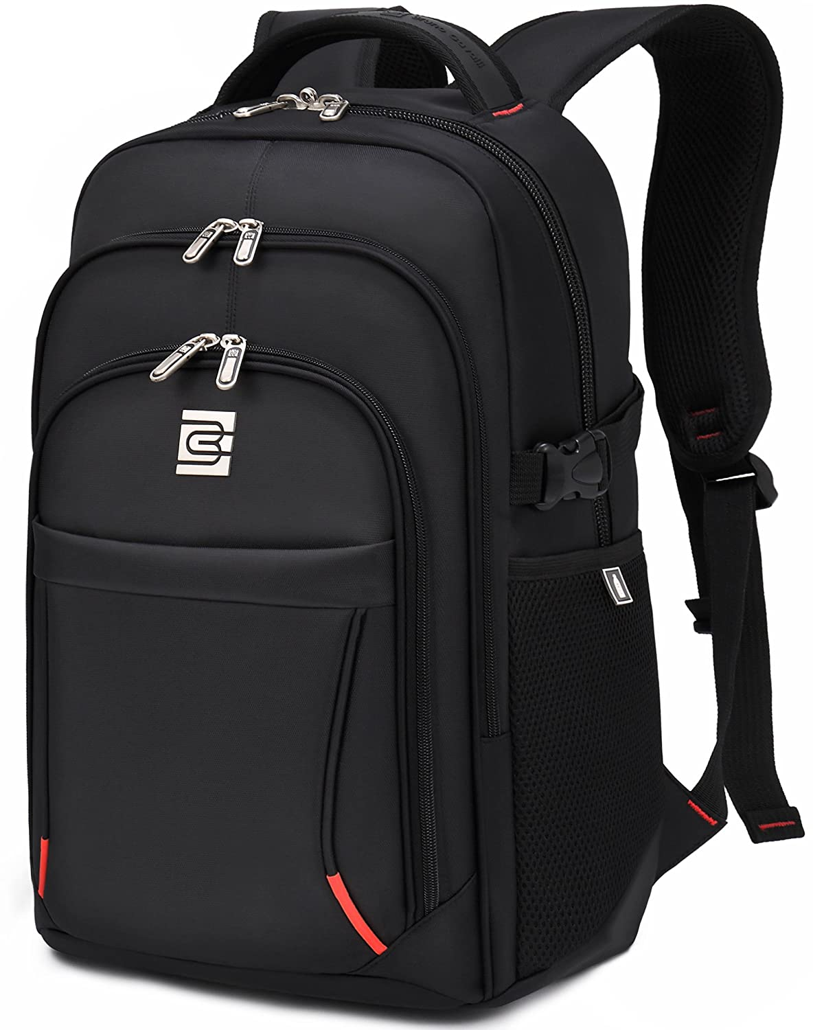 VEVESMUNDO Laptop Backpack 16IN College School Travel Business Outdoor Waterproof Daypack For 16IN Dell HP Lenovo Macbook Acer Men (BLACK FOR 16 INCHES LAPTOP) 85%OFF