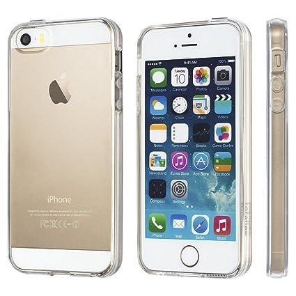NOVAGO - Carcasa Trasera Transparente para iPhone 5, iPhone 5S, iPhone SE, Gel Suave, Resistente e irrompible