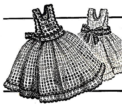 Amazon Vintage Crochet Pattern To Make Pinafore Dress