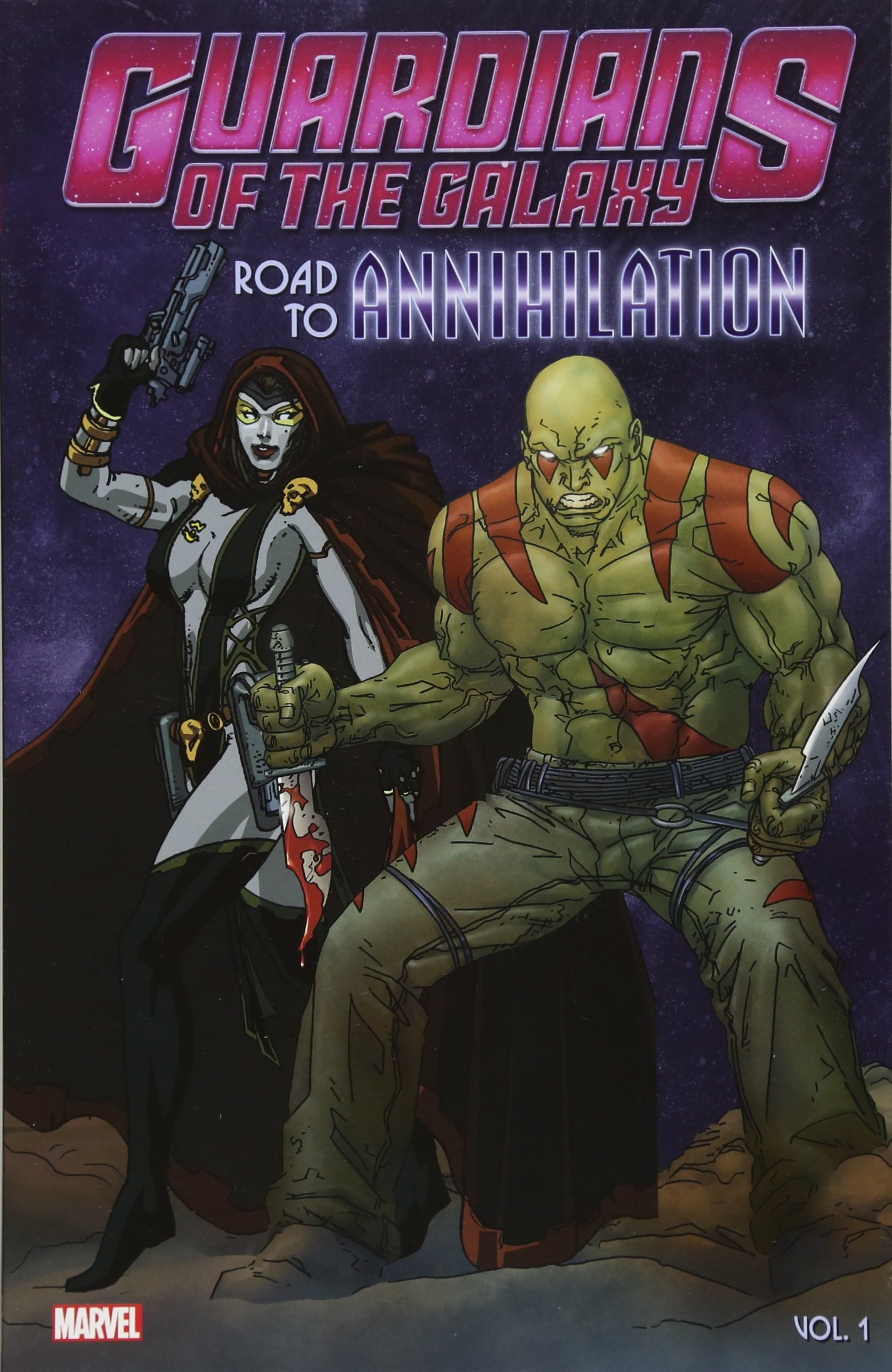 Guardians of the Galaxy Road to Annihilation 1 2 Marvel Graphic Novel Comic Book