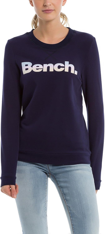 TALLA L. Bench Logo Crew Neck Sudadera para Mujer