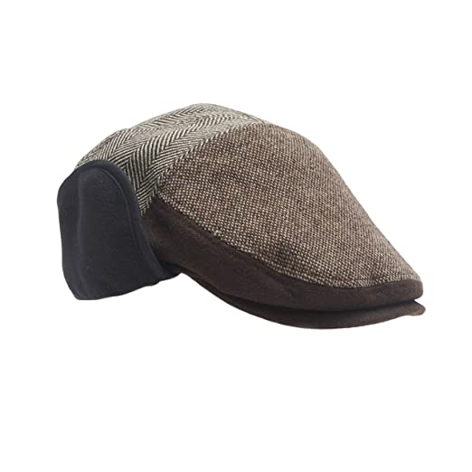 cbd3ea02550 Dockers Men s Ivy Newsboy Hat with Earflaps at Amazon Men s Clothing ...