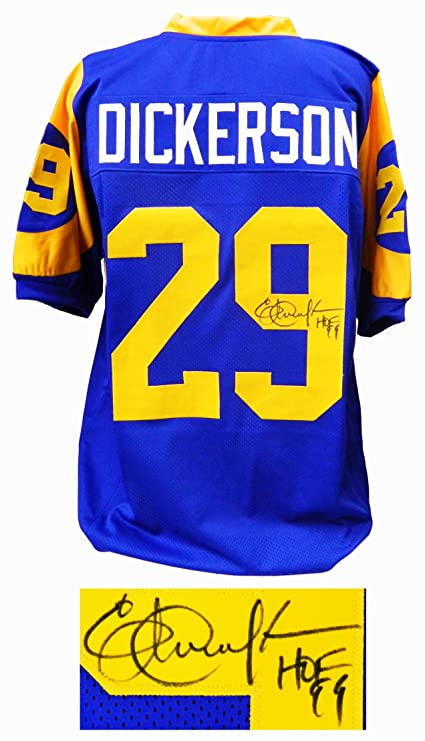huge discount 44a17 f9a11 Los Angeles Rams Eric Dickerson Signed Blue & Yellow ...