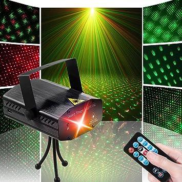 Amazoncom LED Disco DJ Party Laser Lights Sibaok Mini Auto - Strobe lights for bedroom