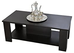 Comfy DIY - Letizia Coffee Table - Modern Design - Elegant Finish (Color : Brown)