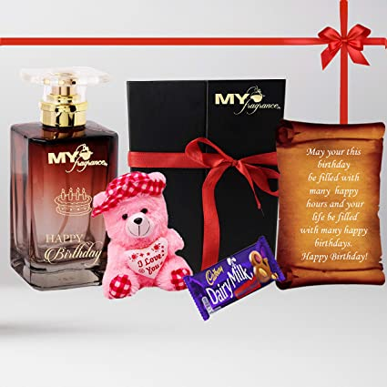 MY FRAGRANCE Happy Birthday Customised Gift Set Perfume With Name Printed A Greeting Card