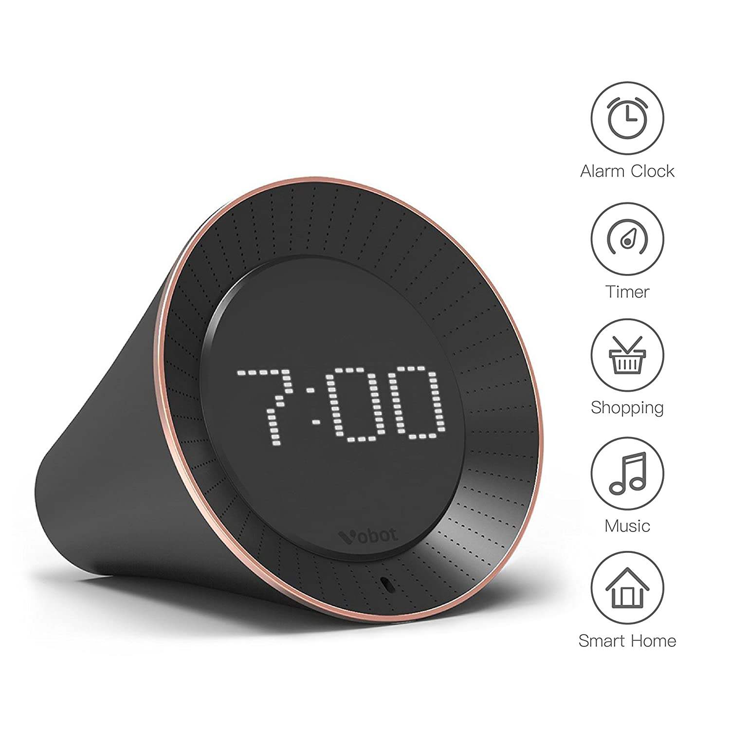 Smart Alarm Clock >> Vobot Smart Alarm Clock With Amazon Alexa Amazon In Electronics