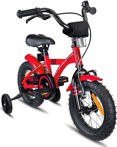 Prometheus Bicicleta Infantil | 12 Pulgadas | niño y niña | Rojo ...