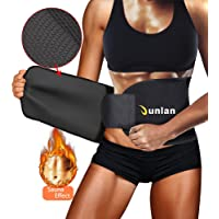 Junlan Waist Trimmer Trainer Sauna Sweat Abs Belt for Men and Women Weight Loss Slimming with Back Support Workout