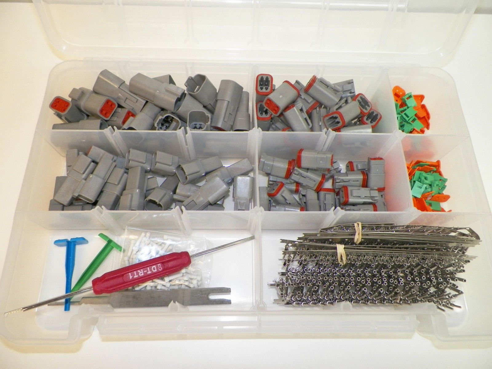 DEUTSCH DT CONNECTOR KIT GRAY OEM 662 Piece Kit STAMPED TERMINALS + REMOVAL TOOLS, MALE & FEMALE. Order by 3PM EST shipped that day