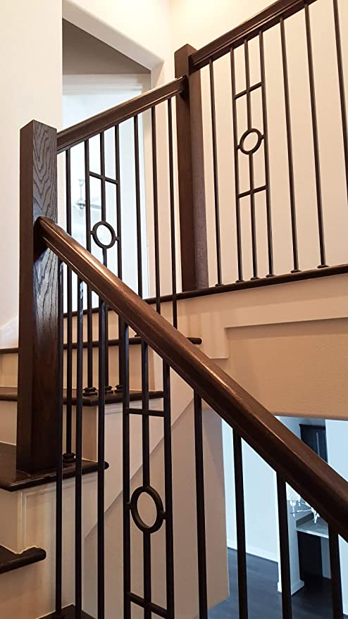 Silver Vein 16.1.32 Three Leg Panel Hollow Iron Baluster for Staircase Remodel