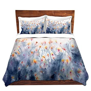DiaNoche Designs Brazen Design Studio Floral Splendor Brushed Twill Unique  Home Decor Bedding Cover,