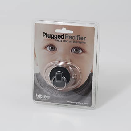 La Fuente Chupete Plugged (Negro): Amazon.es: Bebé