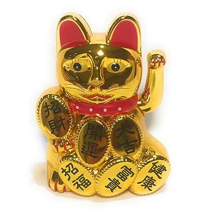 Gato chino de la suerte con brazo en movimiento, filosofía ...