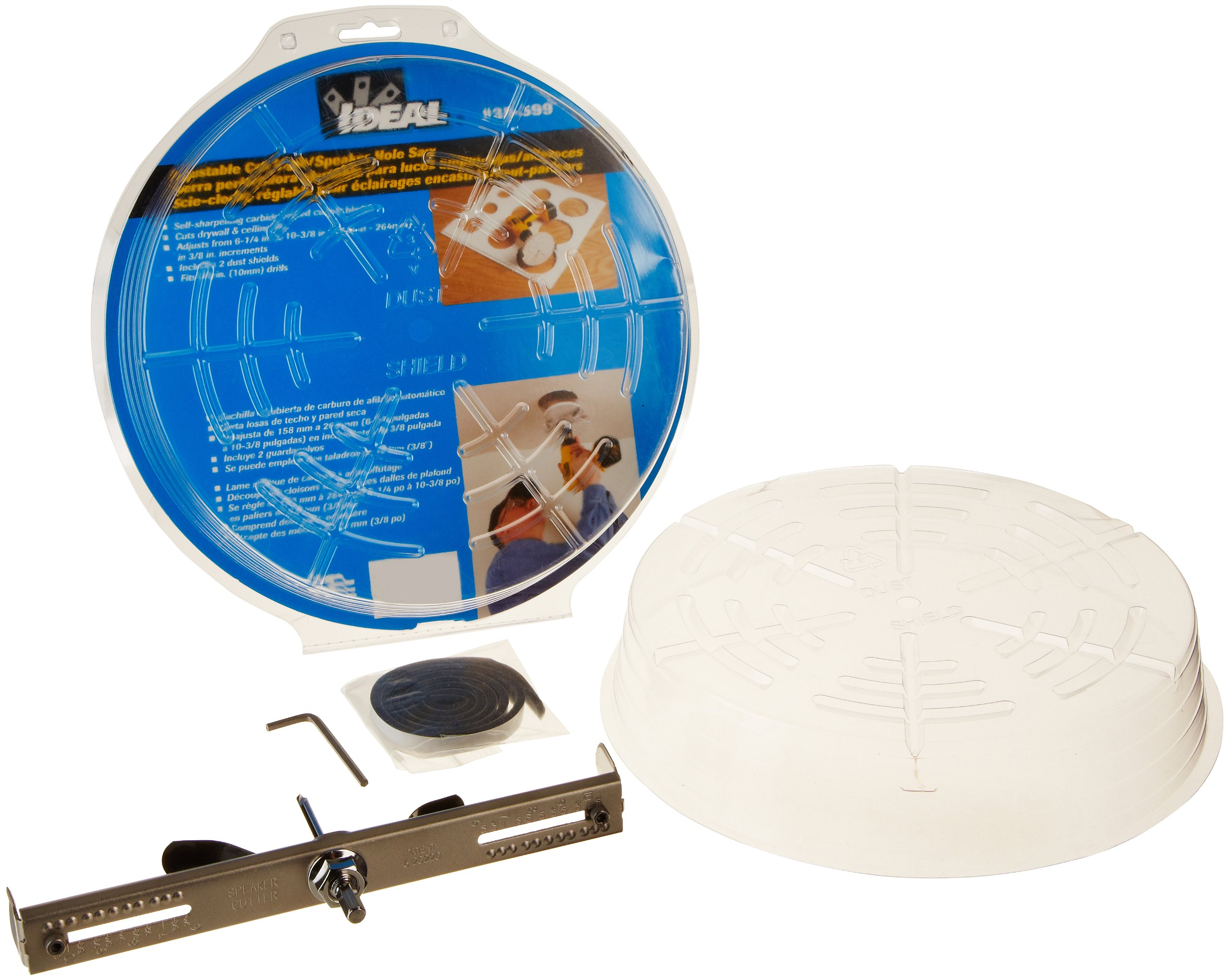 Ideal Industries Adjustable Can Light Hole Saw, 13 sizes from 6-1/4 to 10-3/8''