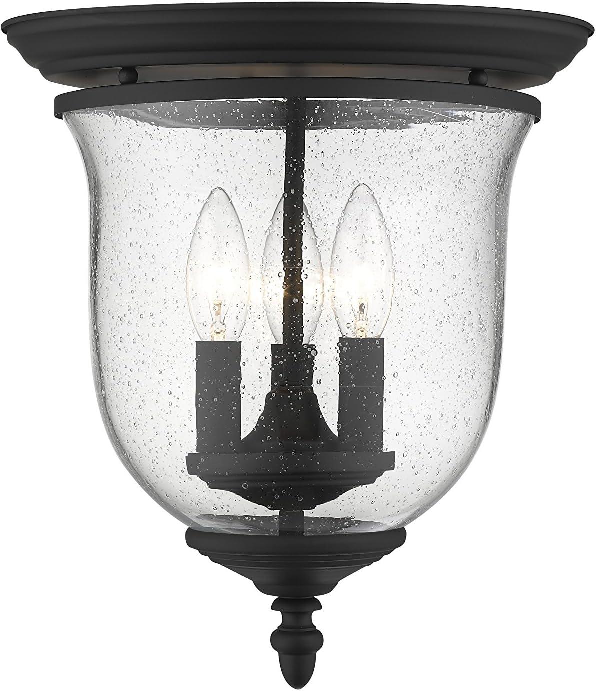 Livex Lighting 5024-04 Legacy 3-Light Ceiling Mount, Black