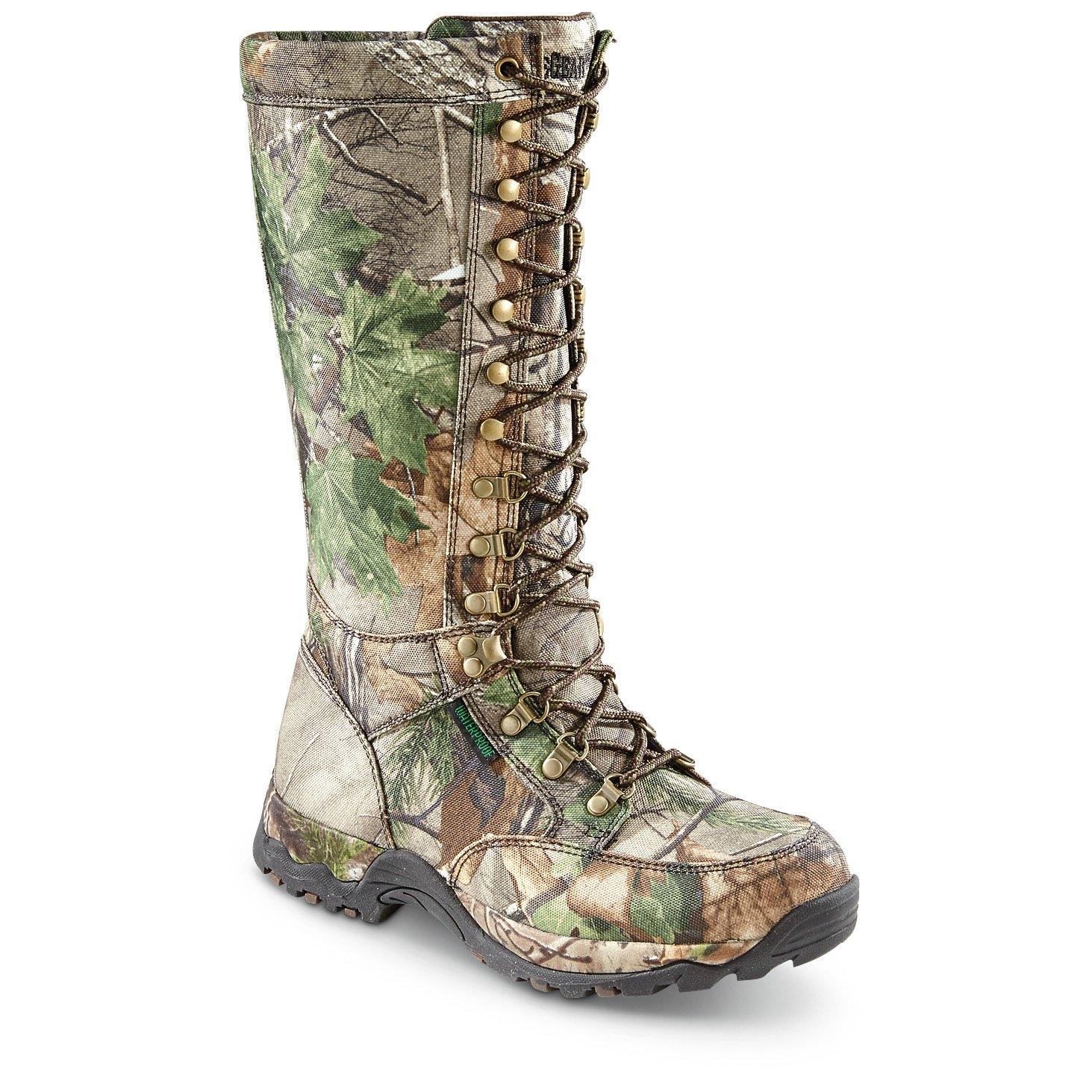 Guide Gear Mens Nylon Snake Boots, Waterproof, Side Zip by Guide Gear